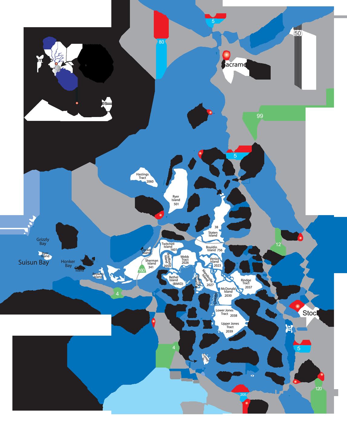Map of the Sacramento-San Joaquin Delta